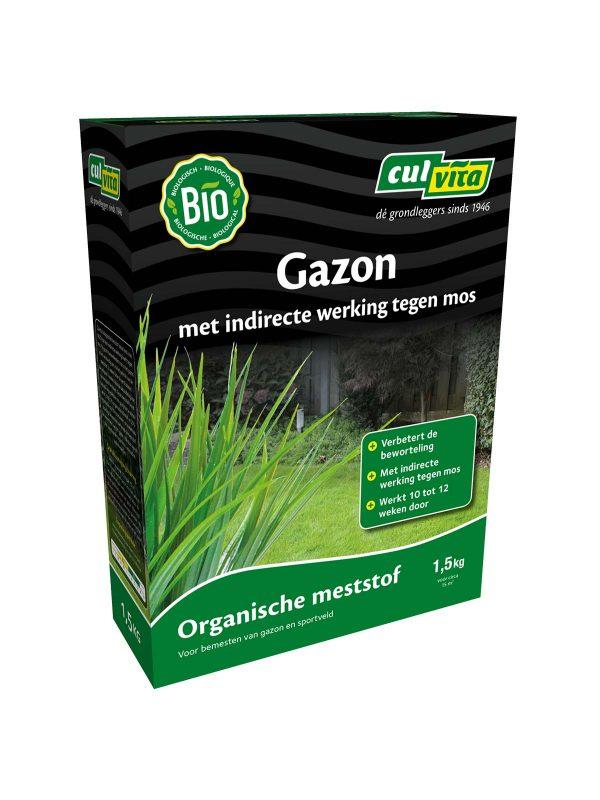 Culvita Organische Gazonmest indirecte werking tegen mos